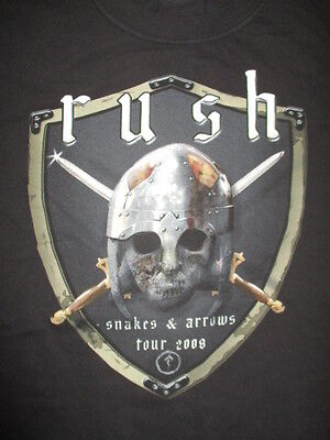 2008 RUSH SNAKES & ARROWS Concert (MED) Shirt GEDDY LEE NEIL PEART ALEX LIFESON