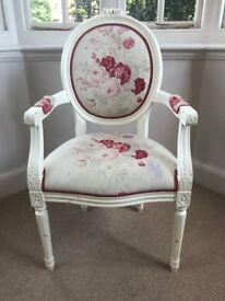Wooden Chair upholstered in Kate Forman Fabric