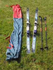 Kneissl Carbon Star Skis with poles
