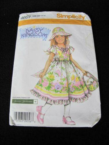 DAISY KINGDOM - DRESS, HAT & PURSE - Simplicity 4667 - Girl