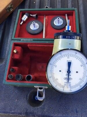 Jaquet Mechanical Hand Tachometer Model 622