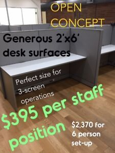 USED CUBICLE DESKS and CUBICLE WORK STATIONS, EXCELLENT COND.