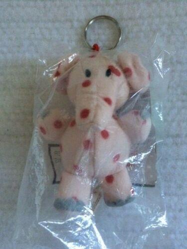 "CVS Pink Spotted Elephant Keychain Ornament Island Misfit Toys Rudolph 4"" Plush"