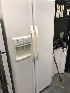 White Side By Side Fridge Ice and Water with Warranty Excellent Condition