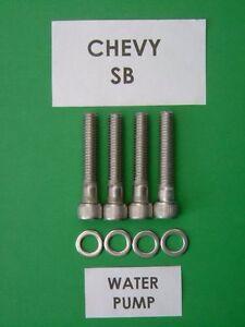 CHEVROLET-BB-402-427-454-LUNGO-Pompa-Acqua-Tappo-testa-Kit-di-bulloni-in