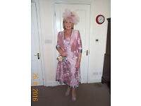 Mother of the Bride Silk Embroidered Dress/Jacket/shoes/ bag (Cost over £1000 new) offers considered