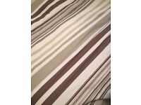 Custom made luxury striped curtains each curtain 85cm x 205cm drop