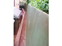 Fence panels close board