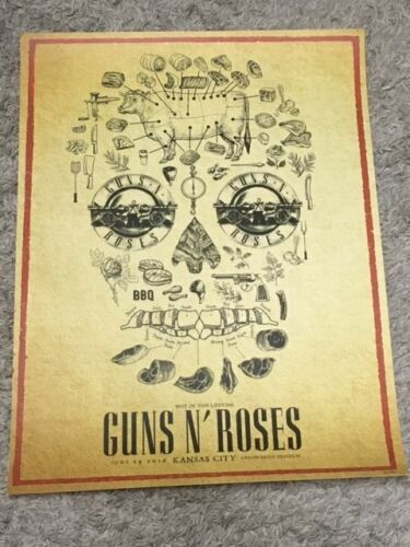 Guns N Roses Not In This Lifetime 2016 KC Tour Poster Rock and roll Ltd 181/200