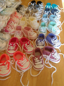 ♥ Handmade ♥ Crocheted Baby Shoes - One Pair