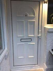 uPVC White Front door 2050mm x 1000mm