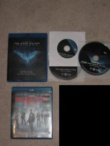 $5 BluRay Blu Ray, Inception, Batman Dark Knight, Matrix