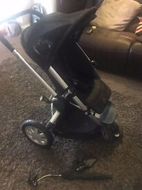 Quinny Buzz Black Pushchair and Accessories