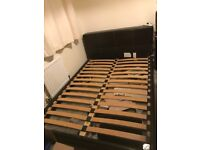 """Faux leather double bed 4ft 6"""""""