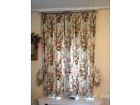 "Pair of floral curtains. Cotton fabric and lined. L60"" x W44.5"". Collect from Fulham or I can post"