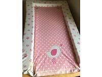Baby changing mat (pink)