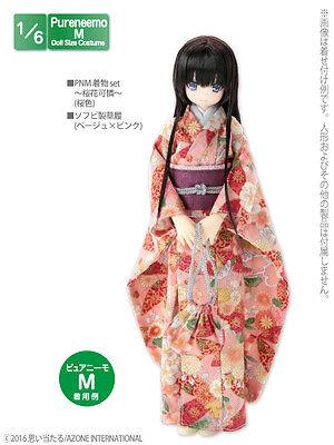 Azone Pureneemo PNM Kimono Set Ouka Karen Pink Blythe Pullip 1 6 Obitsu  Momoko e7ab2f94e
