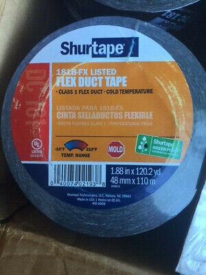Shurtape Flex Duct Tape Dc 181 Black 181b-fx 1.88 In. X 120.2 Yd New