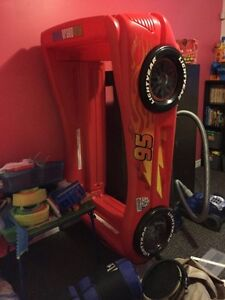 Cars themed race car toddler bed