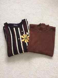 Sweaters Paired Women's-Europian Artwork-Colour brown and black