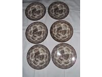 6 x English Country Inns Plates by Grindley. The Talbot Country Inn.