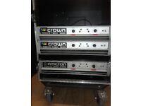 Crown Macrotech amps