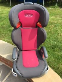 Graco Child car seat (pink & grey). Approx £50 new. VGC.