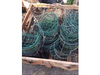job lot of wire hanging baskets