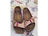 Birkenstock Papillio Ladies Pink Floral Sandals Size UK 5.5/6 - EU 39 Used