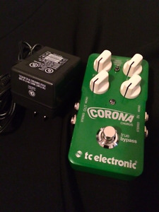 TC Electronic Corona Chorus Pedal with power supply