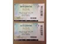 Phil Collins 2 x tickets £40.00 each Hyde Park 30th June North Entrance General Admission