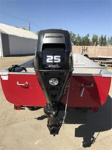 FISHING BOAT PACKAGE: 16FT BOAT, 25HP JET OUTBOARD, & TRAILER!