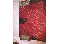 Beautiful Indian Red Bridal Saree on sale!!