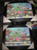 2 3D fish pics brand new FREE DELIVERY