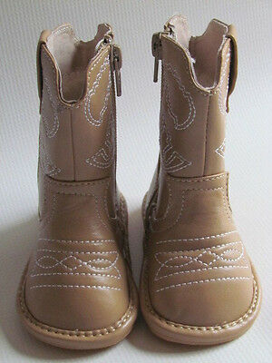 Toddler Boots - Squeaky Boots - Light Brown Cowboy/Cowgirl Boots, Up to Size 10](Light Up Cowgirl Boots)