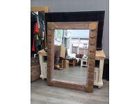 distressed oak mirror