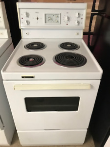 24 inch White Stove Electric Apartment Size Delivery Available