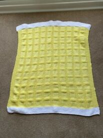 Yellow and White Baby Blanket