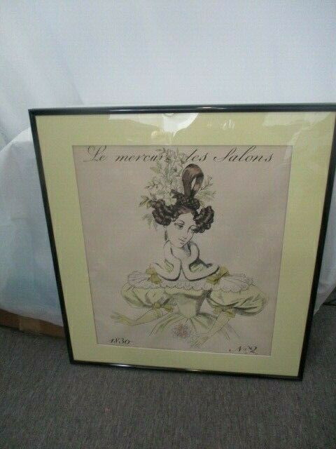 Le Mercun Des Salons 1830 No. 2 Framed Picture