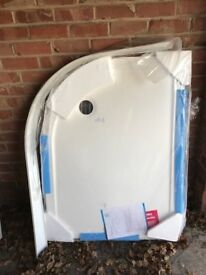 Quadrant shower tray with plinth as new
