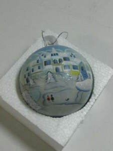 "12"" ORNAMENT - WINTER SNOW SCENE - CHECK IT OUT"