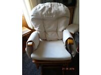 Glider Rocking Nursing Chair and Gliding Foot Stool