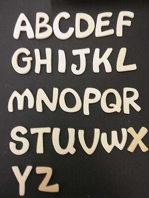 2 Holz-Buchstaben *6 cm hoch* - Auswahl aus A - Z Einzeln Verpackt Neu ()
