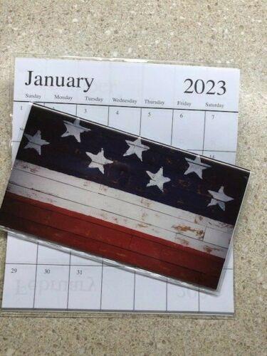 2022-2023 America RUSTIC FLAG 2 Year Planner Pocket Calendar *FREE SHIPPING*
