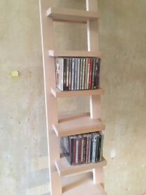 Bespoke Beech CD Tower Shelving Unit