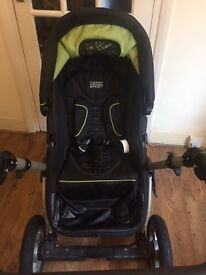 OBABY ZEZU Multi Pramette, Black / Green in very good condition - Collection only