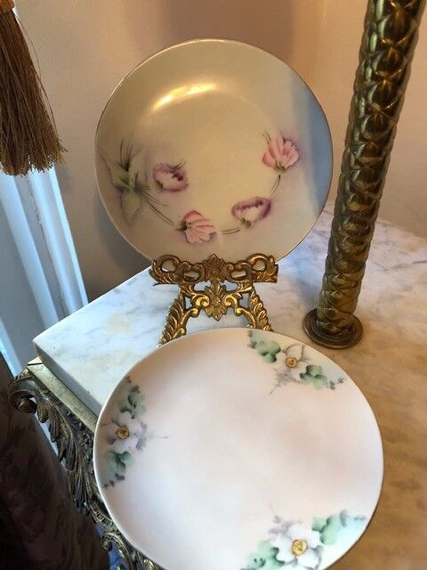 Antique  Set of 2 plates Bavaria Hand Painted Early 20th Century