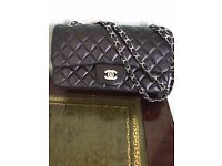 Chanel Style Padded Leather Handbag - Excellent Quality