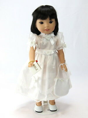 First Communion 3pc Dress Set Fits Wellie Wishers 14.5