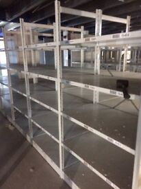 JOBLOT 20 bays of LINK industrial shelving 2.1m high AS NEW ( storage , pallet racking )